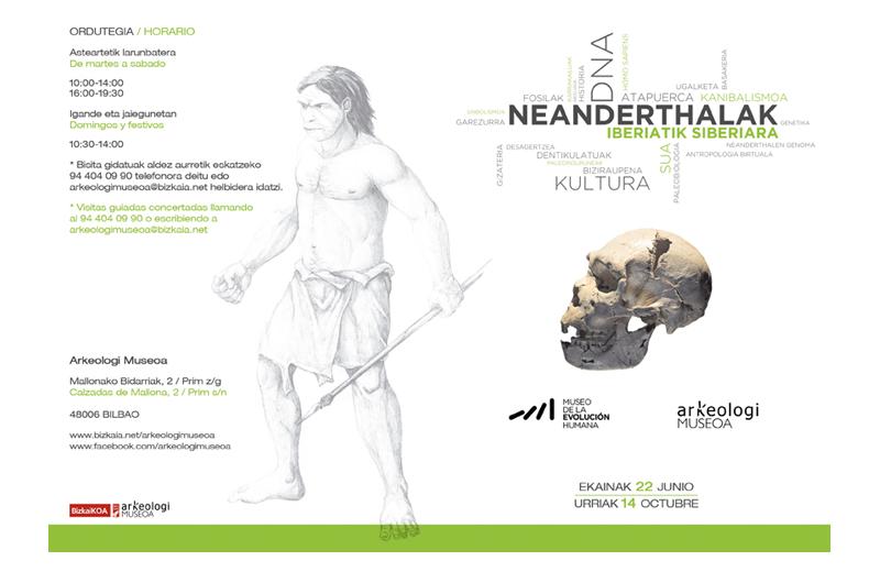 Erakusketa Neandertales Exposición 1 Bizkaiko Arkeologi Museoa