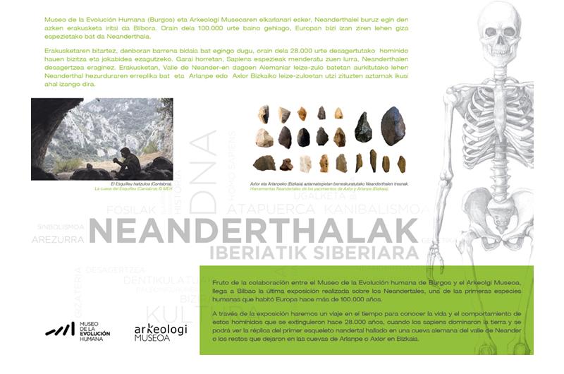 Erakusketa Neandertales Exposición 2 Bizkaiko Arkeologi Museoa