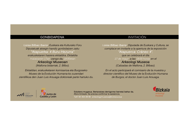 Gonbidapena - Invitación 2 Bizkaiko Arkeologi Museoa