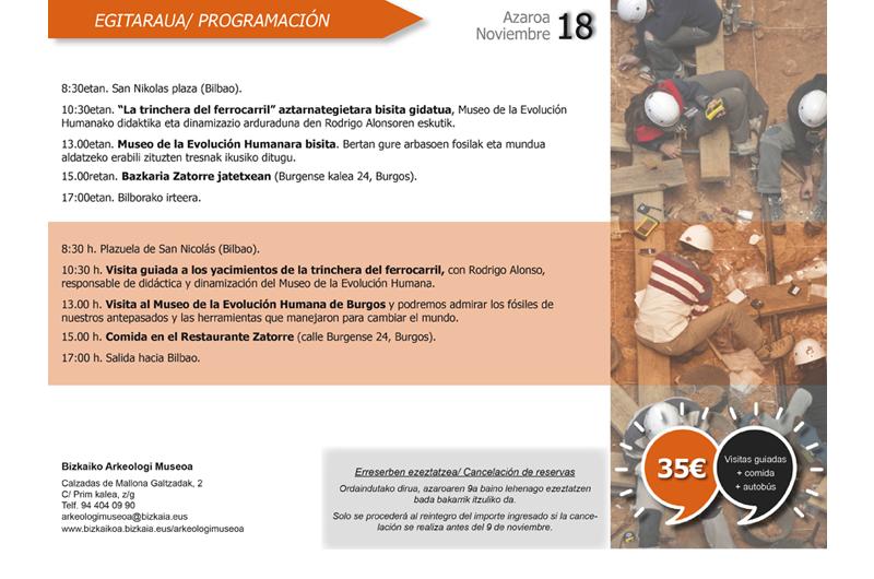 Itinerario - Ibilbidea 2 Bizkaiko Arkeologi Museoa