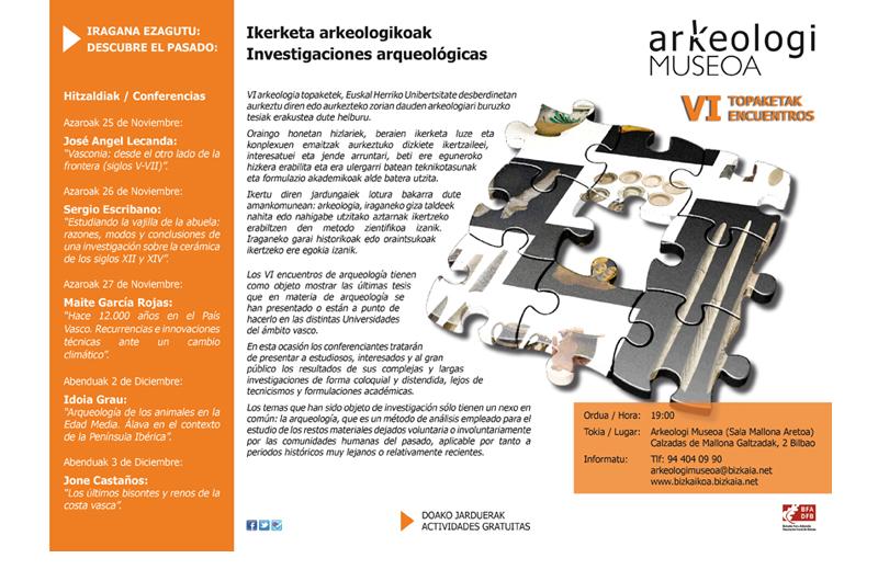 Topaketak - Encuentros 2 Bizkaiko Arkeologi Museoa